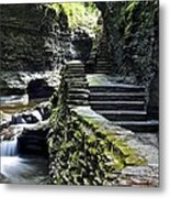 Exiting Watkins Glen Gorge Metal Print by Frozen in Time Fine Art Photography