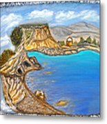 Exotic Beach Near Limassol Metal Print