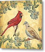 Exotic Bird Floral And Vine 2 Metal Print