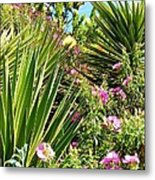 Exotic Hillside Garden Metal Print