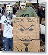 Expect Revolution Metal Print