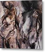 Expectant Couple Metal Print by Made by Marley