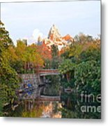 Expedition Everest At Sunset Metal Print