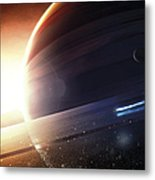 Expedition To A Saturn-like Planet Metal Print