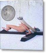 Experimental Crucifix Color Metal Print