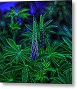 Experimental Flowers Metal Print