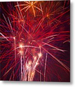 Exploding Fireworks Metal Print