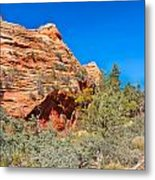 Exploring The Upper Plateau Of Zion Metal Print
