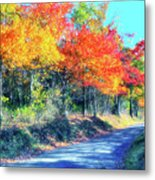 Explosion Of Color - Blue Ridge Mountains I Metal Print