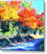 Explosion Of Color - Blue Ridge Mountains II Metal Print