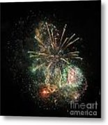 Explosion Of Color On Canada Day Metal Print