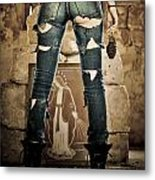 explosive Girl Power Metal Print