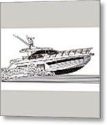 Express Sport Yacht Metal Print by Jack Pumphrey