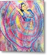 Expressing Her Passion Metal Print