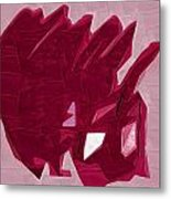Expression Of Red Metal Print
