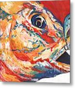 Expressionist Blue Gill On Lure Metal Print
