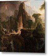 Expulsion From The Garden Of Eden Metal Print