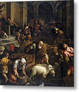 Expulsion Of Merchants From The Temple Metal Print