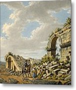 Exterior Of The Ruined Roman Theatre Metal Print