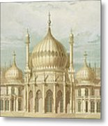 Exterior Of The Saloon From Views Of The Royal Pavilion Metal Print by John Nash