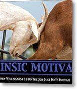 Extrinsic Motivation De-motivational Poster Metal Print