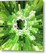 Extrusion Abstract Lime Green Metal Print