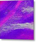 Exuberant Pink Blue Metal Print