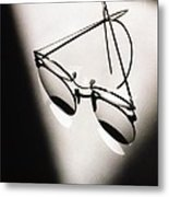 Eye Glasses Metal Print