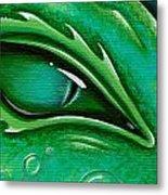 Eye Of The Green Algae Dragon Metal Print