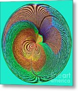 Eye Of The Peacock Orb Metal Print