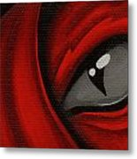 Eye Of The Scarlett Hatching Metal Print