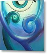 Eye Triple Koru Metal Print