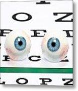 Eyeballs On Chart Metal Print