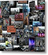 Eyes Down From The 103rd Floor Collage Metal Print