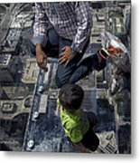 Eyes Down From The 103rd Floor Little Dude With No Fear Metal Print