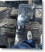 Eyes Down From The 103rd Floor One Big Step Metal Print