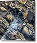 Eyes Down From The 103rd Floor One Small Step Metal Print