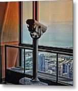 Eyes Down From The 103rd Floor Telescope Looking South Metal Print