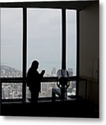 Eyes Down From The 103rd Floor Texting From The Top Of The World Metal Print