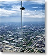 Eyes Down From The 103rd Floor The View From The Ledge Metal Print