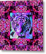 Eyes Of The Bengal Tiger Abstract Window 20130205p0 Metal Print