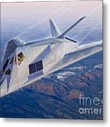 F-117 The Dragon Metal Print