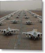 F-16 Fighting Falcons, Kunsan Air Base Metal Print
