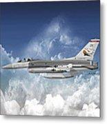 F-16c Falcon Metal Print
