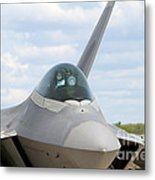 F-22 Raptor Lockheed Martin Air Force Metal Print