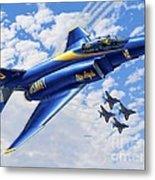 F-4 Phantoms In Blue Metal Print