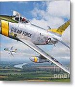F-86l Of The 82nd Fis Metal Print by Stu Shepherd