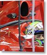 F1 Driver Felipe Massa Metal Print