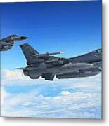 F16 Fighting Falcons Metal Print
