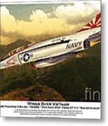 F4-phantom Wings Over Vietnam Metal Print